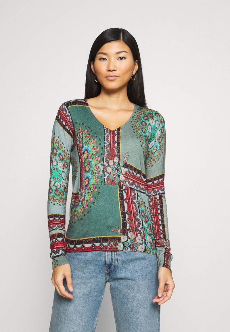 Desigual - JERS DUNDEE - Jumper - dusty olive