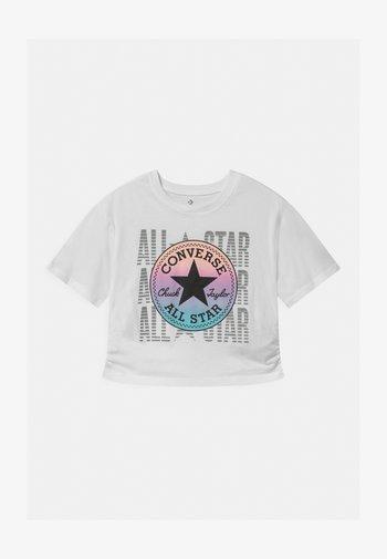 RUCHED - T-shirt imprimé - white