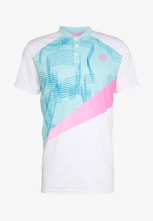 Polo - white/mint/pink