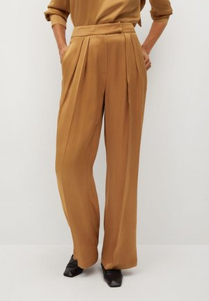SATIN - Trousers - ocre