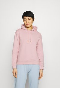 Anna Field - Basic loose hoodie with gold trim - Hoodie - pink - 0