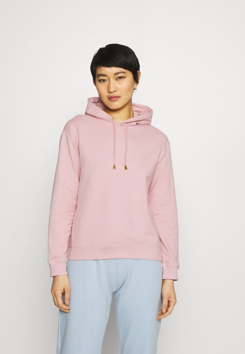 Anna Field - Basic loose hoodie with gold trim - Hoodie - pink