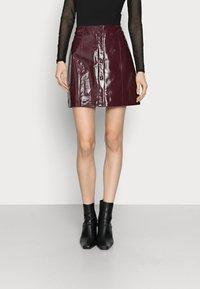 Glamorous Tall - LADIES SKIRT - Minijupe - burgundy - 0