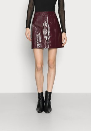 LADIES SKIRT - Mini skirt - burgundy