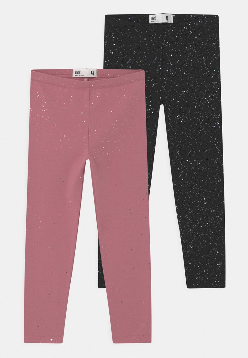 Cotton On - HUGGIE 2 PACK - Legging - black/very berry