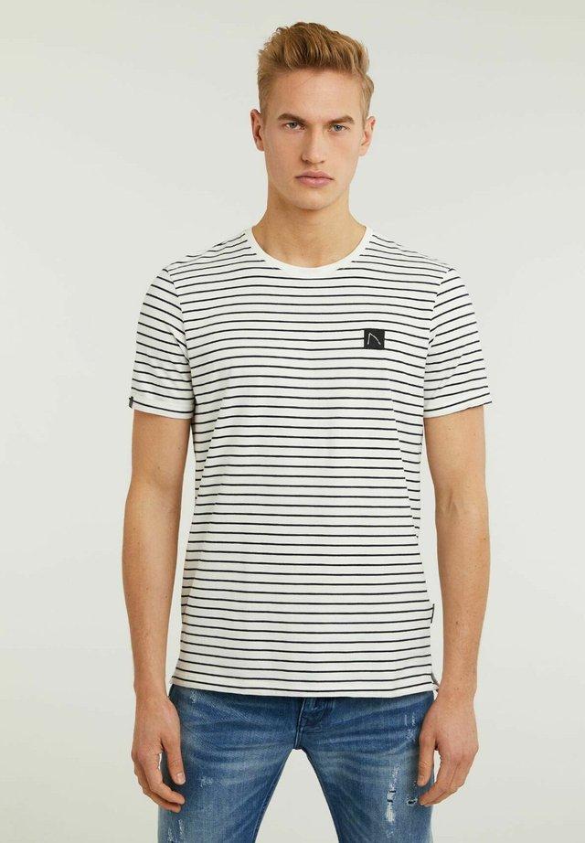 SHORE - T-shirt con stampa - white