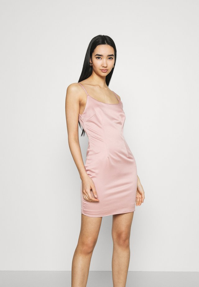 CAMI BODYCON MINI DRESS - Juhlamekko - pink