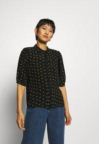 Gestuz - BELINAGZ SHIRT - Button-down blouse - black - 0