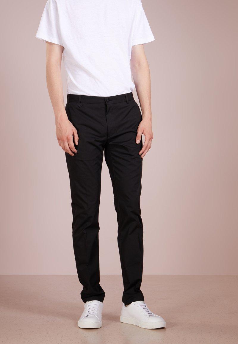 HUGO - HELDOR - Spodnie materiałowe - black