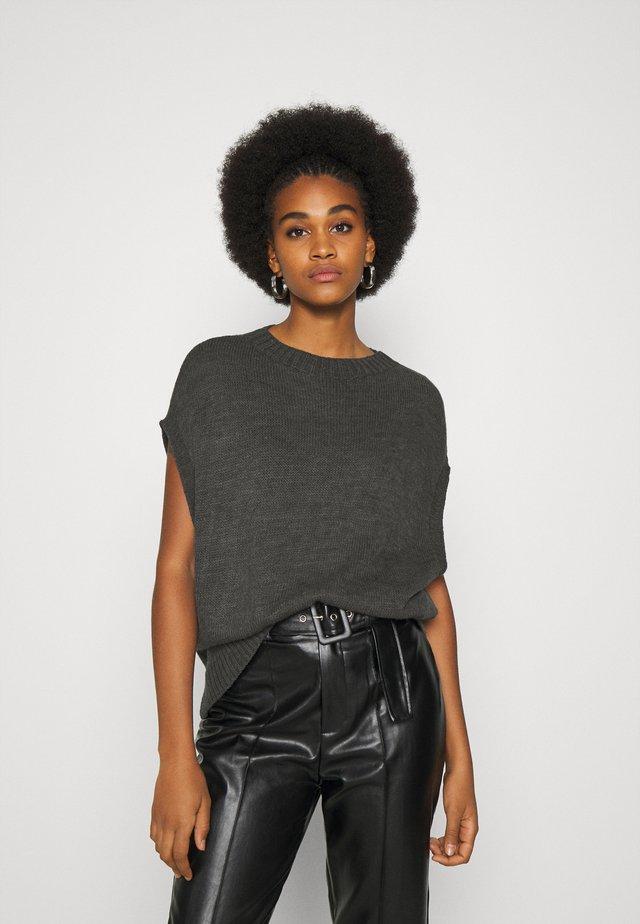 WESTE - T-shirts basic - dark grey melange