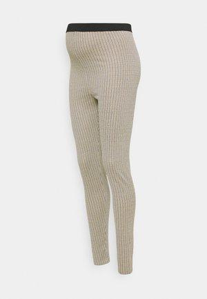 MLSIBEL - Leggings - Trousers - oatmeal/black/brown