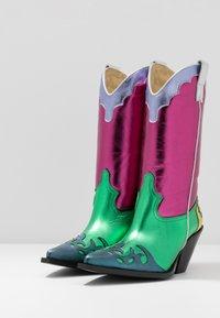 Toral - Cowboy/Biker boots - multicolor/pink/green - 4