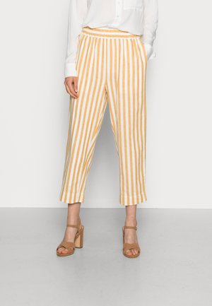 HUSTON IN PLUME - Trousers - golden plume