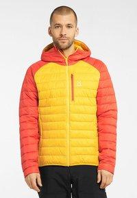 Haglöfs - SPIRE MIMIC HOOD  - Winter jacket - pumpkin yellow/habanero - 0