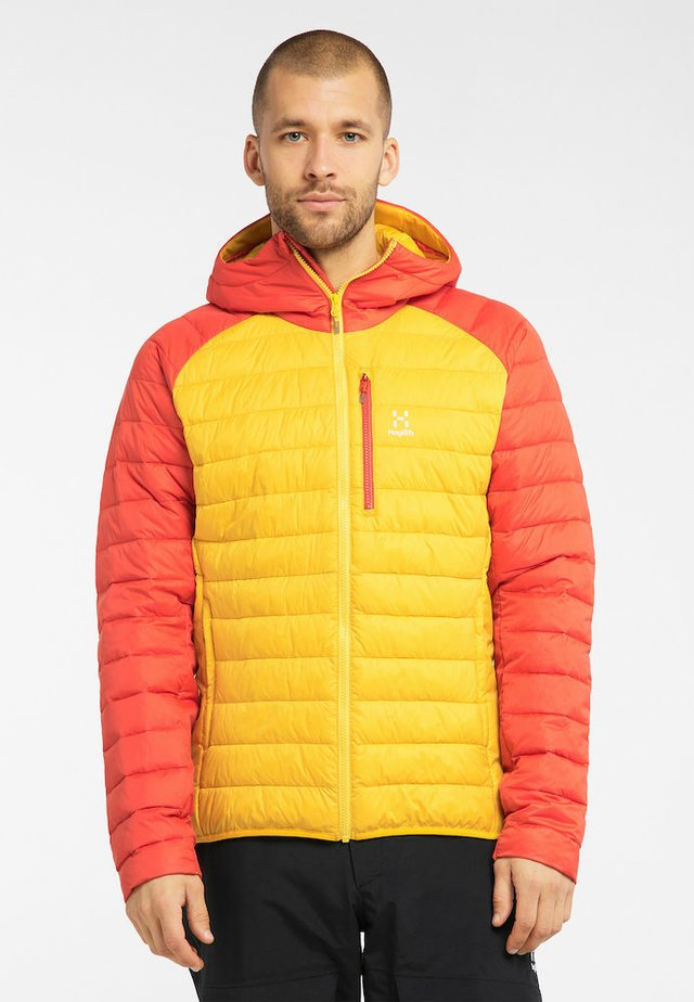 SPIRE MIMIC HOOD  - Winter jacket - pumpkin yellow/habanero