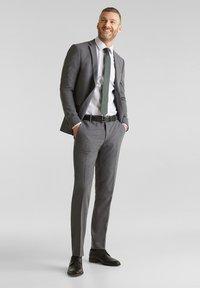 Esprit Collection - ACTIVE - Suit trousers - dark grey - 1