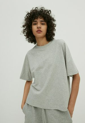 Basic T-shirt - graumeliert