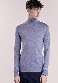 Bruuns Bazaar - CHARLES ROLL NECK - Pullover - mid grey melange - 0