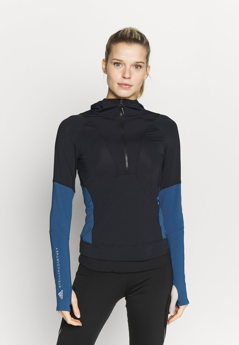 adidas by Stella McCartney - HOODED - Treningsskjorter - black/blue
