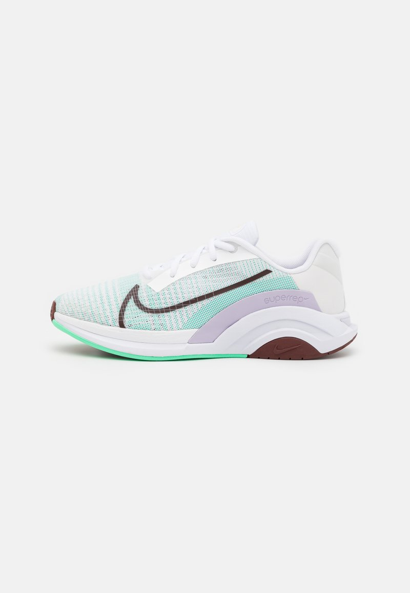 Nike Performance - ZOOMX SUPERREP SURGE - Sportovní boty - white/bronze eclipse/green glow/infinite lilac/laser orange