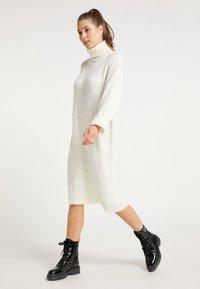 myMo - Gebreide jurk - weiß - 1