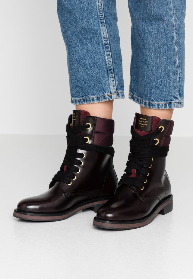 MALIN  - Lace-up ankle boots - bordeaux