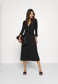 Esprit - WRAP DRESS - Maxi dress - black - 1