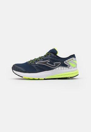 VICTORY - Zapatillas de running neutras - navy/lemon