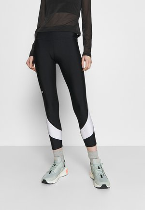 TAPED ANKLE LEG - Legging - black