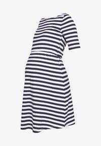 Anna Field MAMA - Vestido ligero - white/dark blue - 3