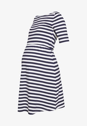 Jersey dress - white/dark blue