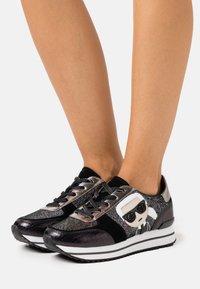 KARL LAGERFELD - VELOCITA IKONIC METEOR - Sneakers - black/silver - 0