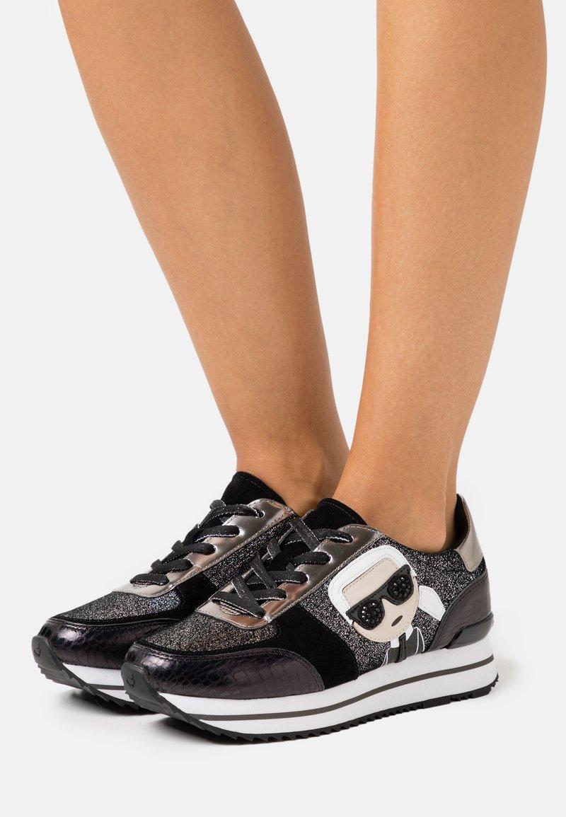 KARL LAGERFELD - VELOCITA IKONIC METEOR - Sneakers - black/silver