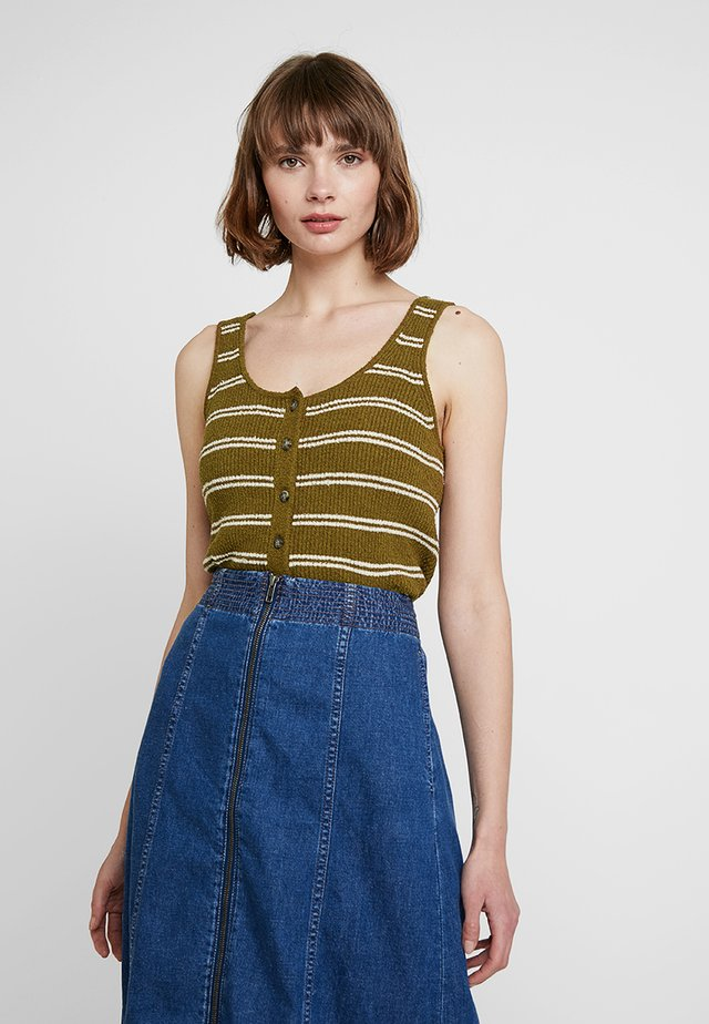 STRIPE LANDFILL TANK - Blouse - golden spinach