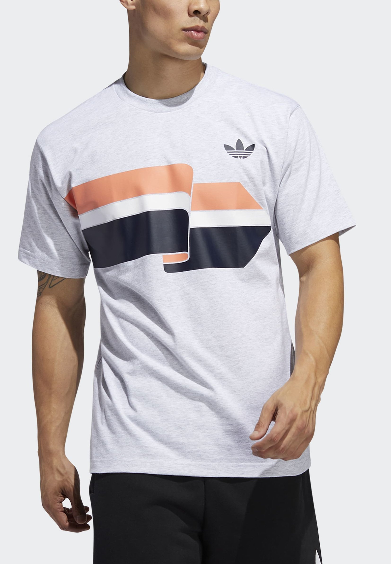 adidas Originals RIPPLE T-SHIRT - Print T-shirt - grey 5QmMo