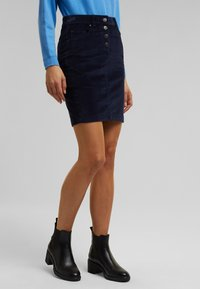 Esprit - PENCIL SKIRT - Pencil skirt - navy - 3