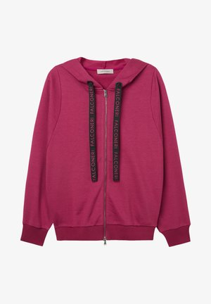 Zip-up sweatshirt - sangria
