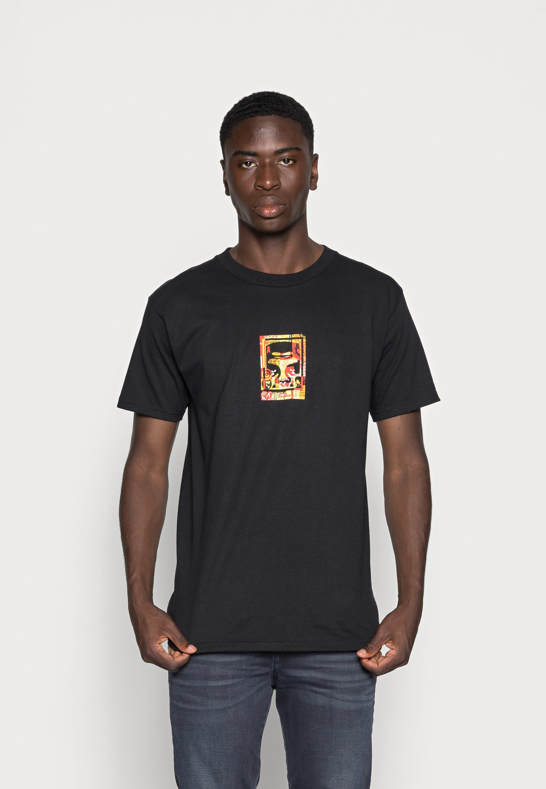 Men OBEY ICON FACE COLLAGE - Print T-shirt