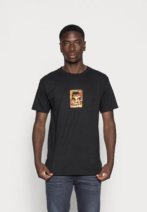 OBEY ICON FACE COLLAGE - Printtipaita - black