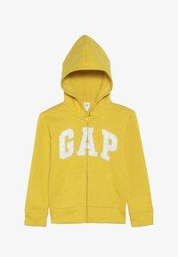 GAP - GIRLS LOGO  - Huvtröja med dragkedja - rainslicker yellow - 3