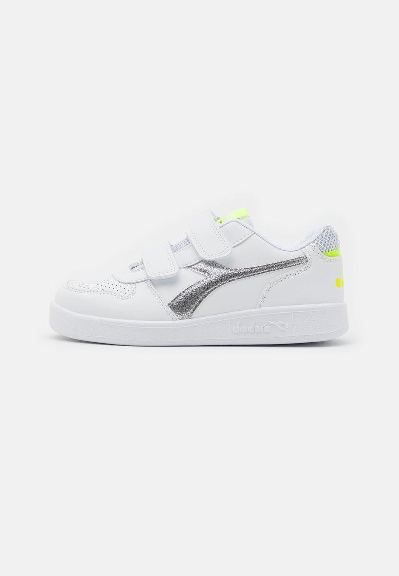 Diadora - PLAYGROUND GIRL - Sports shoes - white/yellow fluo