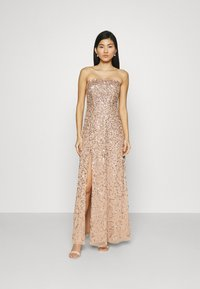 Maya Deluxe - DELICATE SEQUIN DRESS WITH DETACHABLE CAPE - Iltapuku - taupe blush - 3
