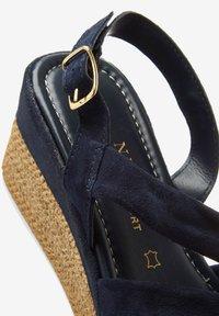 Next - SOFT KNOT - Wedge sandals - dark blue - 3
