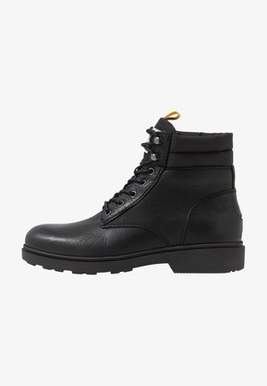 CASUAL BOOT - Lace-up ankle boots - black