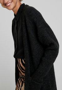 Selected Femme - SLFLANNA CARDIGAN - Cardigan - dark grey melange - 3