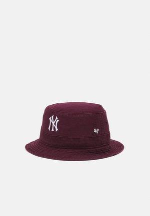 NEW YORK YANKEES BUCKET UNISEX - Hat - dark maroon