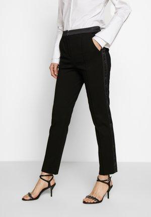 PUNTO PANTS  - Pantalones - black