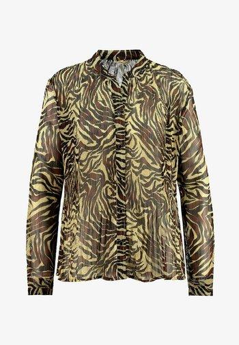 Button-down blouse - khaki (44)