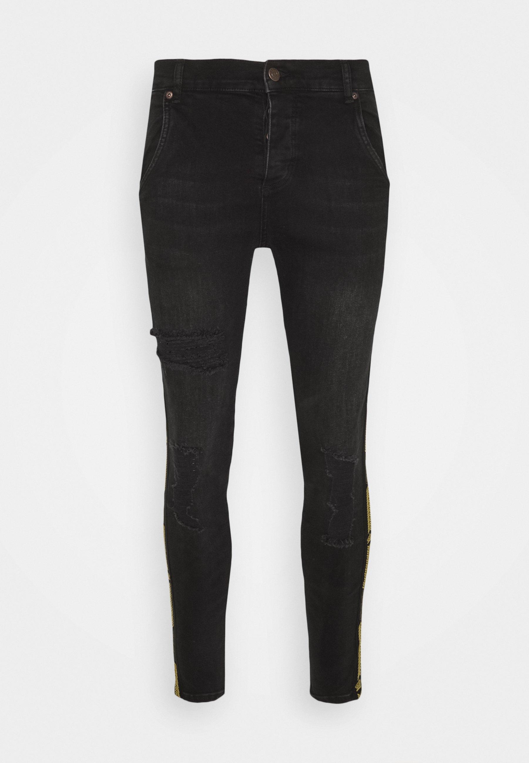 Men CROWN DISTRESSED FLIGHT - Slim fit jeans