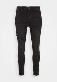 SIKSILK - CROWN DISTRESSED FLIGHT - Slim fit jeans - black - 3